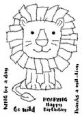 Woodware - Raggy Lion - Clear Magic Single Stamp - FRS687
